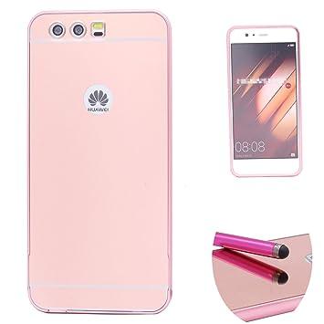 Funda Espejo Aluminio Metal Carcasa para Huawei P10 Color Rosado