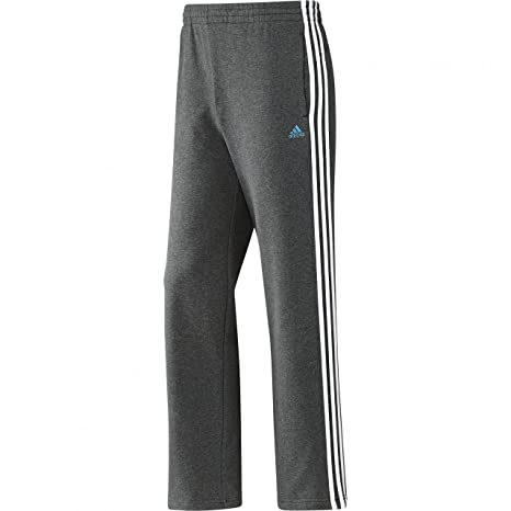 adidas Herren Hose Essentials 3 Stripes Light Sweat Pants Open Hem