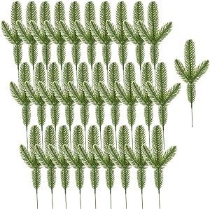 Baaxxango 30PCS Artificial Pine,Pine Needles Branches,Pine Picks for Christmas Wreath,Home Decor,Crafts