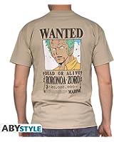 ONE PIECE - Tshirt Wanted Zoro homme MC sand - basic