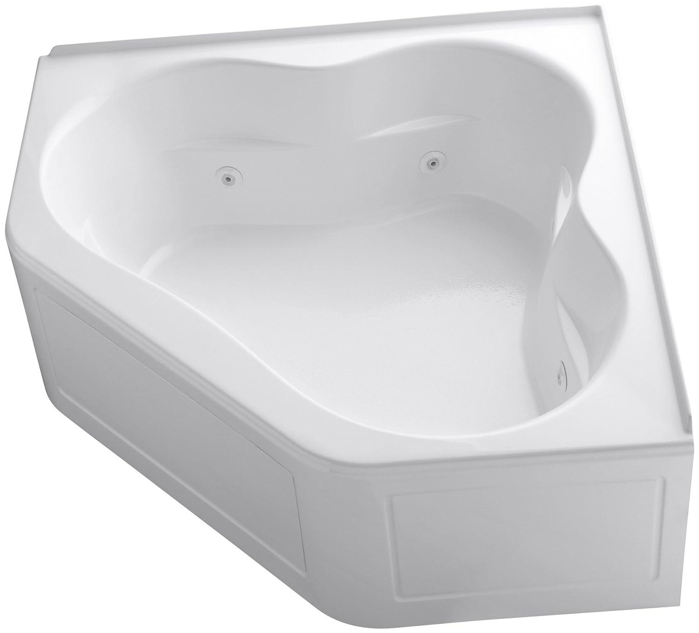 KOHLER K-1160-LA-0 Tercet Whirlpool, White - Freestanding Bathtubs ...