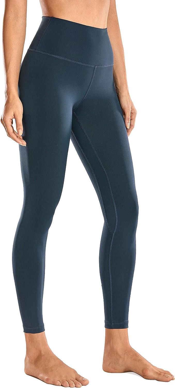 CRZ YOGA Women's 7/8 High Waisted Yoga Pants Workout Leggings Naked Feeling I-25 Inches: Clothing