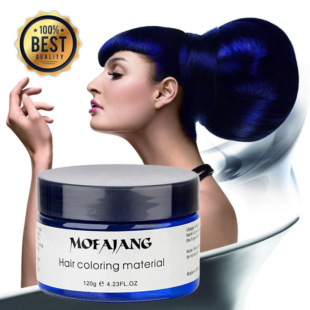 Temporary Blue Hair Wax Natural Ash Matte Hair