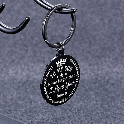 Gift From Mom And Dad Sweet 16 Personalised Be Safe We Love You Keychain Thick Premium Leather Keyring Laser Etched New Driver Gift
