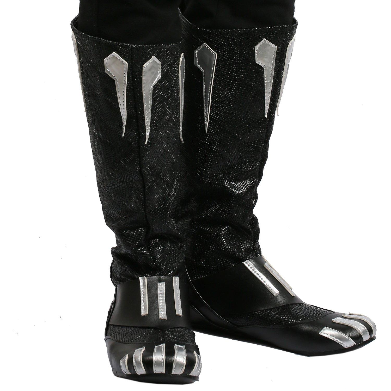 BIRDEU Herren Stiefel Stiefel Tchalla Cosplay Schwarz PU Leder Schuhe Schuhe Schuhe schuhe Film Kostüm Zubehör Für Erwachsene Kostüm Halloween cdc480