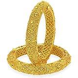 Sukkhi Wedding Jewellery Bangle for Women (Golden) (32343BGLDPKR3200_2.8)