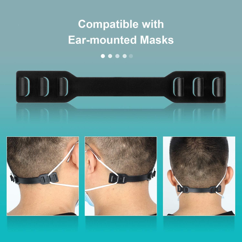 20 Pieces Adjustable Mask Ear Hook Strap Extender Anti-Tightening Mask Holder Hook Comfortable Ear Grips Extension Mask Buckle Ear Hoops Extending Belt for Ear Protection