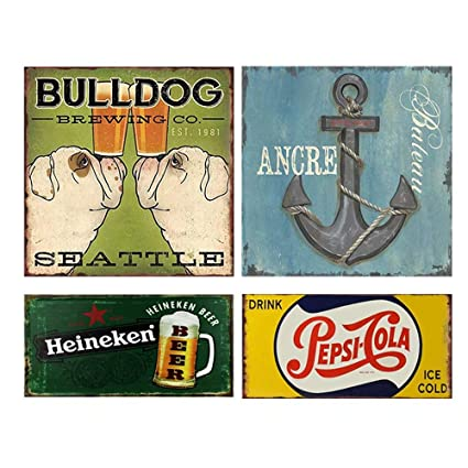 KEEP OUT METAL TIN PLATE SIGNS vintage cafe garage retro kitchen office pub bar