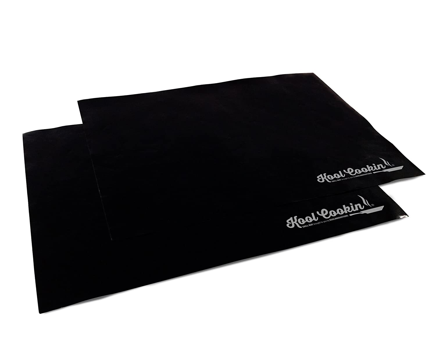BBQ Grill Mat & Nonstick Oven Liner - Set of 2 Heavy Duty Cooking Mats Best For Charcoal Barbecue Grilling, Baking in Gas and Electric Ovens, Broiler Tray Liners, Reusable Dishwasher Safe