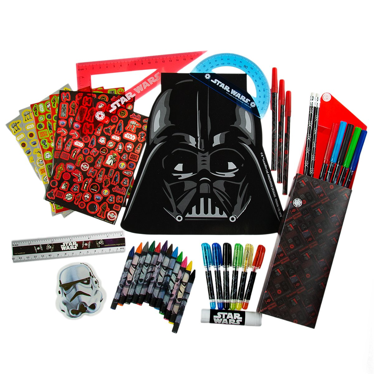 Innovative Designs Star Wars Ultimate Creative Art Kit Set for Kids Markers Pens Pencils Notepad, 200 Pieces Disney 4336945672