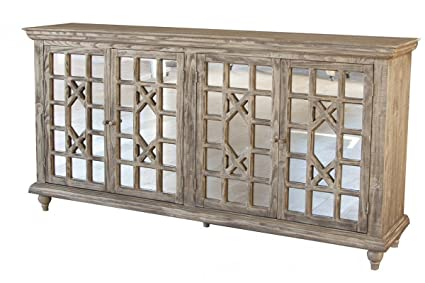 Keystone 70u0026quot; Mirrored Door Sideboard / Media Console / Living Room  Cabinet