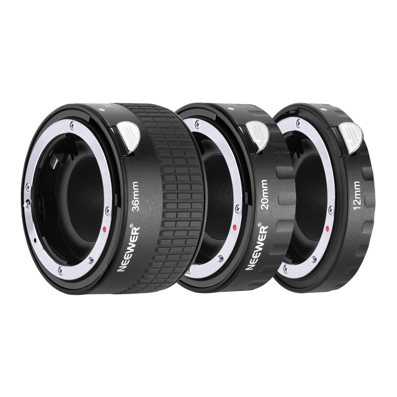 Neewer Metal Auto Focus AF Macro Extension Tube Set 12mm,20mm,36mm for Nikon AF,AF-S Lens DSLR Camera,Such as D7200 D7100 D7000 D5500 D5300 D5200 D5100 D5000 D3300 D3200 D3100 D3000 D700 D600 D500 by Neewer