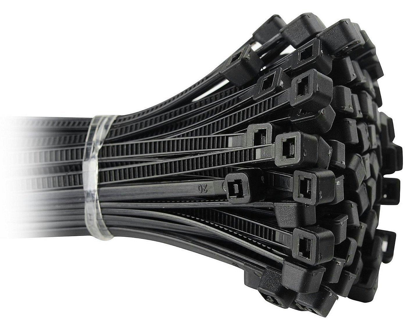 100 attaches pour câ ble, noir en Nylon ré sistant - 245 mm x 4,8 mm noir en Nylon résistant - 245 mm x 4 Sterling