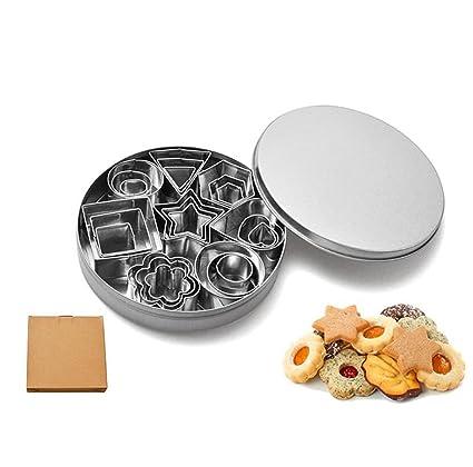 ZXMXY Herramientas de Cocina Moldes para Galletas Moldes para Galletas de Acero Inoxidable 24 Piezas Utensilios