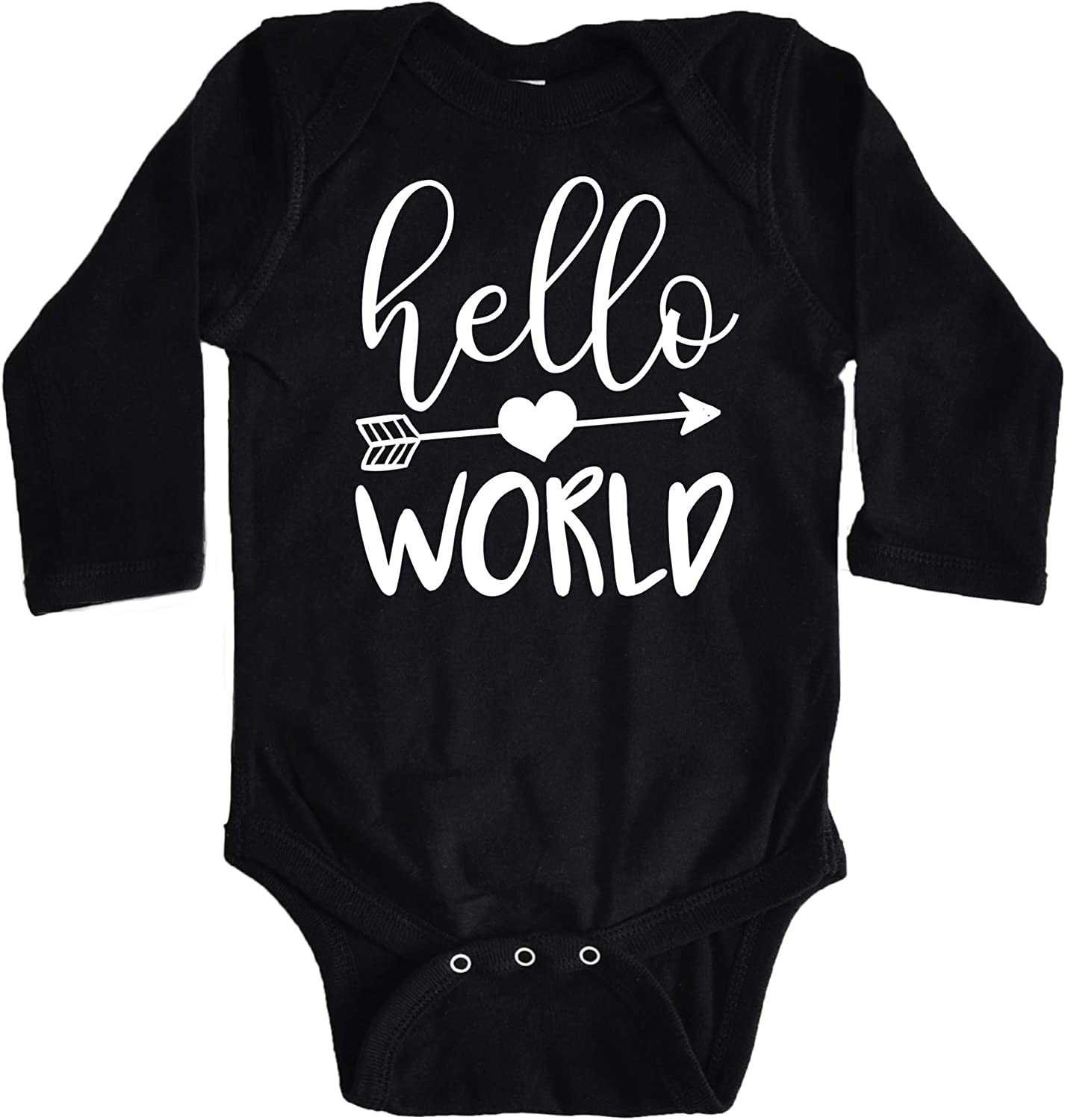 Hello World Arrow Baby Girls Newborn Take Home Bodysuit for Baby Girls Outfit