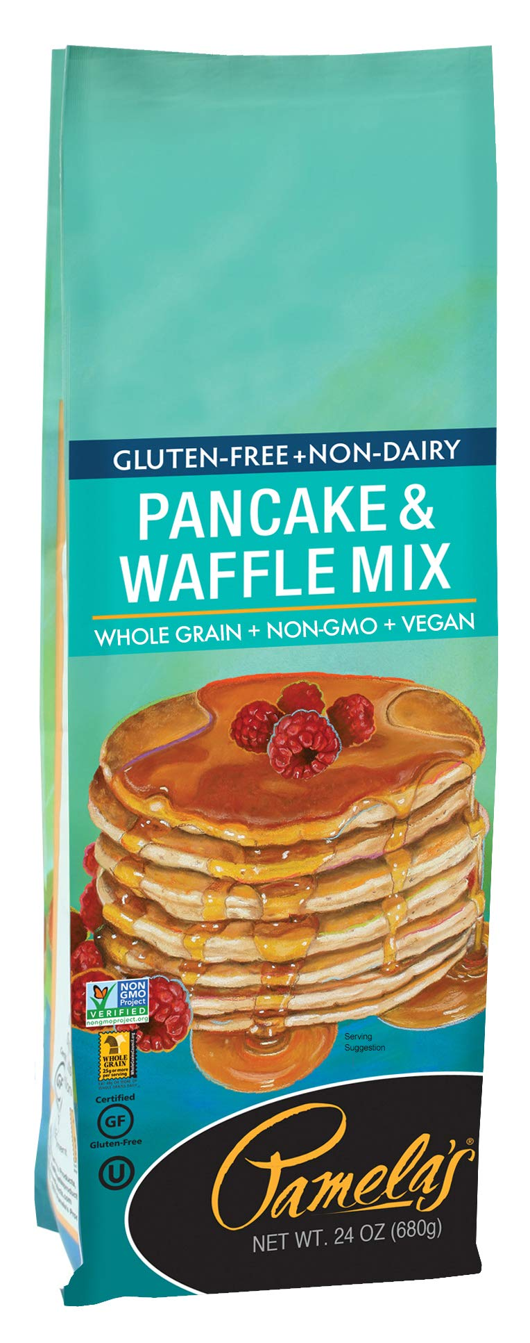 Pamela's Products Gluten Free, Non-Dairy Pancake and Waffle Mix, 24 Ounce (Pack of 6) by Pamela's Products