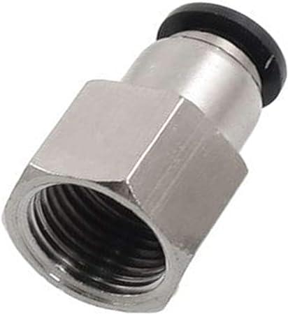 "4 piezas de aire neumático rápido empuje para conectar el montaje de 1//4/"" NPT a 1//4/"" diámetro exterior 6mm"
