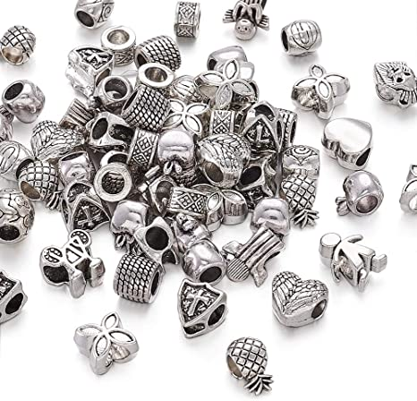 BULK BUY DISCOUNT Decorative 8mm Spacer Bead Antique Finish Sterling Silver