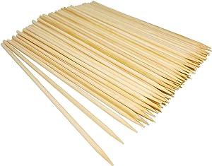 Natural Bamboo Skewers,Wooden Skewers,Skewer Sticks,kebab Sticks,Short Skewers,Wooden Kebab Skewers -Skewers for Fruit Kabobs,Appetizer, Chocolate Fountain, Cocktail More Food (6 inch(100 Pack))