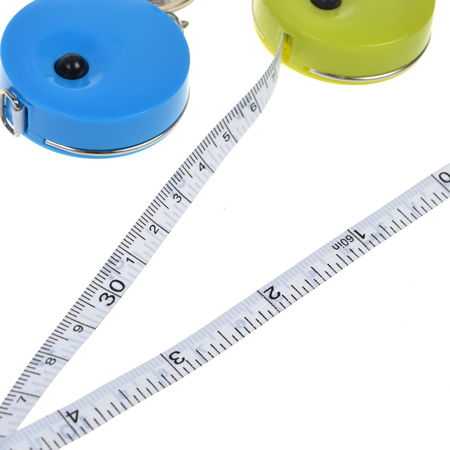 Flexible Ruler for Weight Loss Body Measurement Sewing Craft 60-Inch//150cm Double-Scale Versatile Soft Cloth Measuring Tape 10Pcs Candy colors Candy Color Retractable Tape Measure with Keychain
