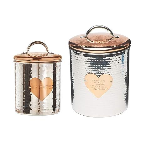 Amazon.com: Amici - Juego de 2 recipientes decorativos de ...