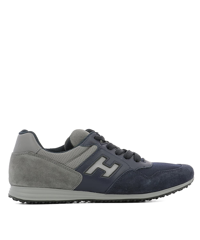 Hogan メンズ HXM2050X600FWI591M グレー セーム 運動靴 B07DX8LXCZ