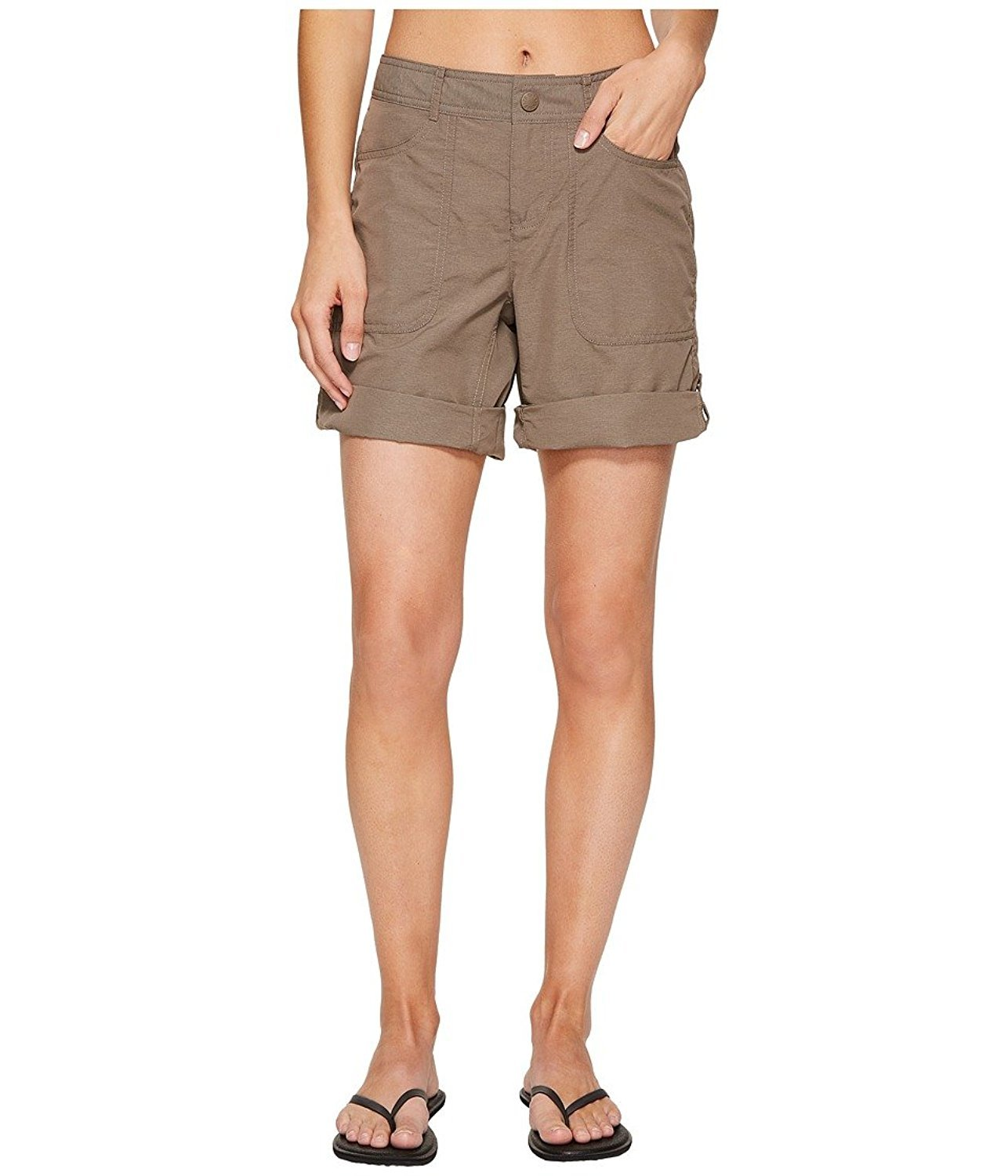 The North Face Women's Horizon 2.0 Roll-up Shorts Falcon Brown Heather 12