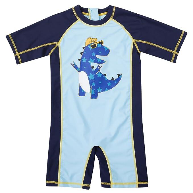 99293f68d CharmLeaks Baby Boy Surf One Piece Zip Rash Guard UV All-in-One ...