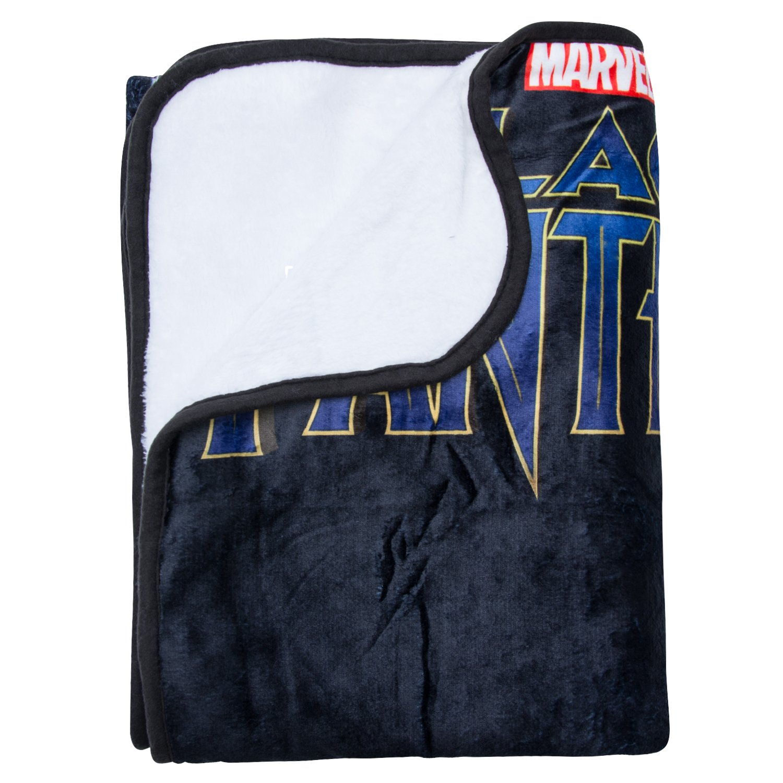 Marvel Black Panther Fleece Blanket - Officially Licensed Marvel Black Panther Movie Soft Silk Throw Bed Blanket by Marvel (Image #5)