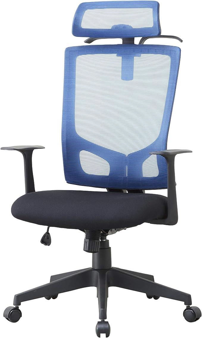 ドウシシャ オフィスチェア ハンガー付きチェアBL EPHC-BL