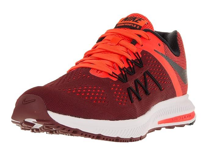 Amazon.com | Nike Mens Zoom Winflo 3 Team Red/Black/TTL Crimson/Wht Running Shoe 9.5 Men US | Road Running