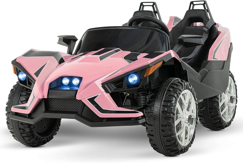 Uenjoy 2 Seats Kids Car 12V Ride On Racer Cars