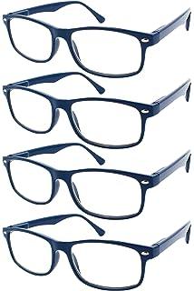 9b1520b8dd TBOC Gafas de Lectura Presbicia Vista Cansada - (Pack 4 Unidades) Graduadas  +2.50