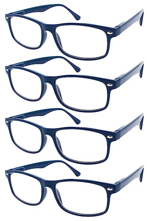 TBOC Gafas de Lectura Presbicia Vista Cansada - (Pack 4 Unidades) Graduadas  +1.50 a785acdef4b4