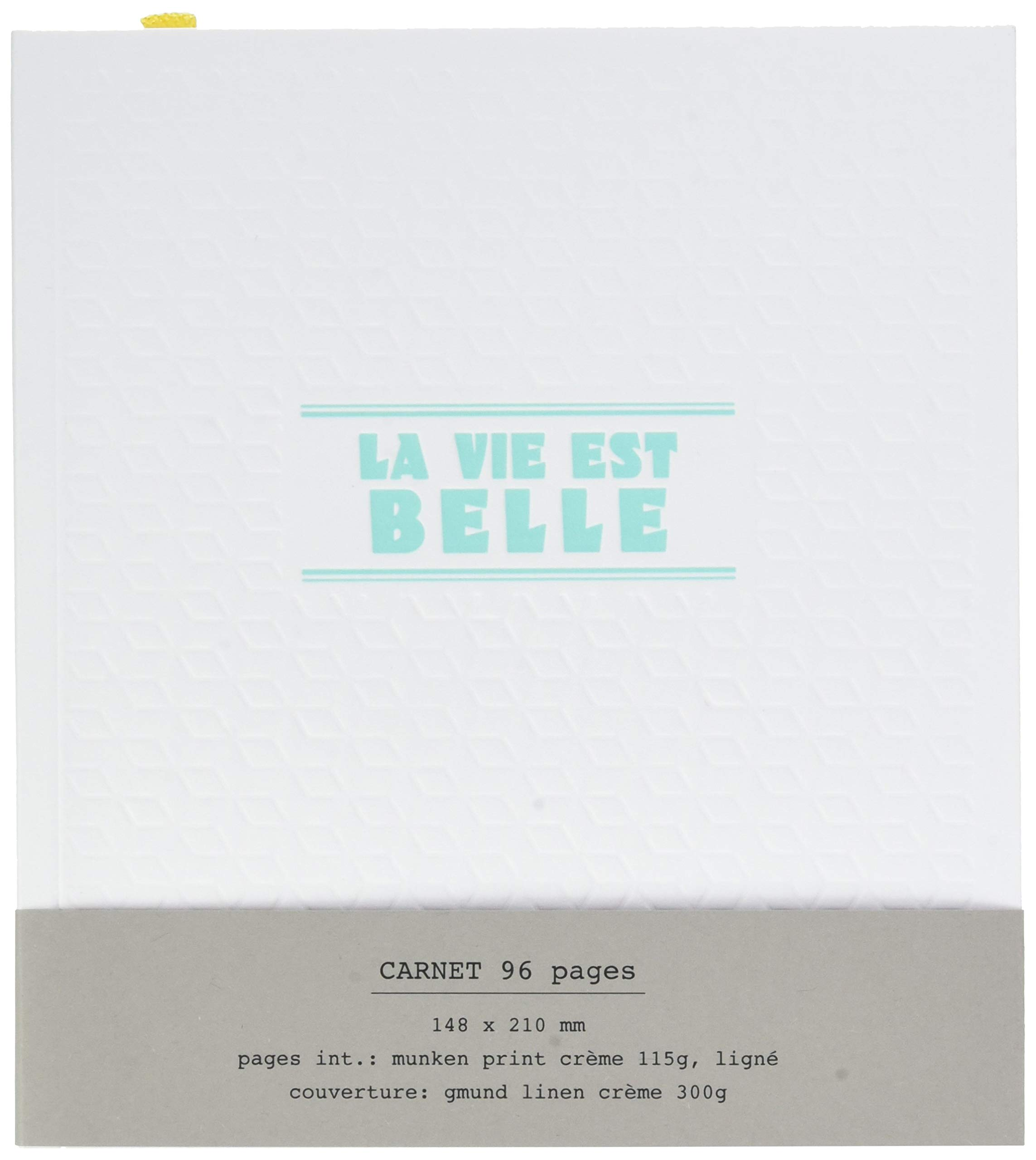 Editions Oberthur 588270Papette Notebook A5Typography Life is Beautiful