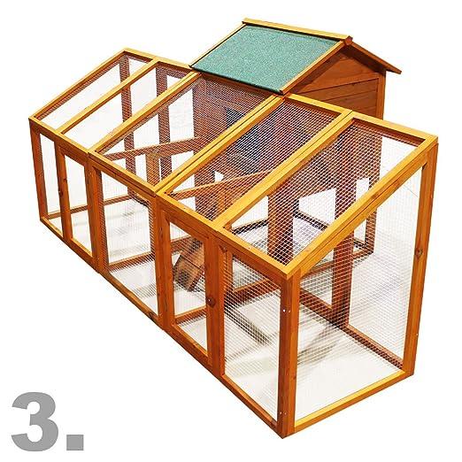 Gallinero Caseta gallinas Corral Zona descubierta Corredor Refugio Pollos Mascotas Caseta madera Ave: Amazon.es: Bricolaje y herramientas