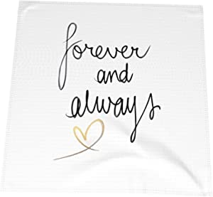 QUAVZI Homes Dining Cloth Napkins Table Decor Forever and Always 4 pcs 20 by 20 Inches Reusable Durable Napkins Ideal for Home Parties Restaurants Hotels