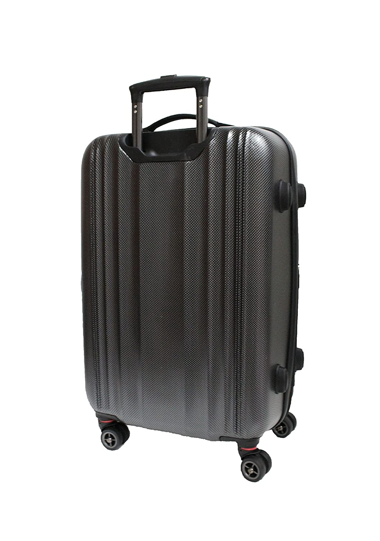 Bagage Valise Cabine Petite Taille - 4 Roues - Rigide - Ultra Légère - Résistant - de ICEPAK (Argent) mHfUE