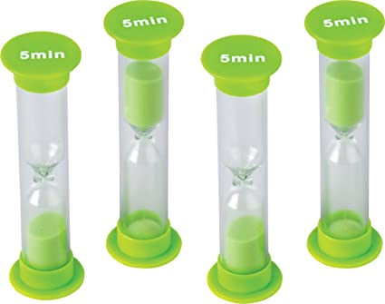 amazon com teacher created resources 5 minute sand timer small