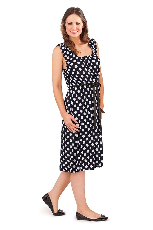 5a251eca055a Lora Dora Womens Polka Dot Knee Length Summer Dress: Amazon.co.uk: Clothing