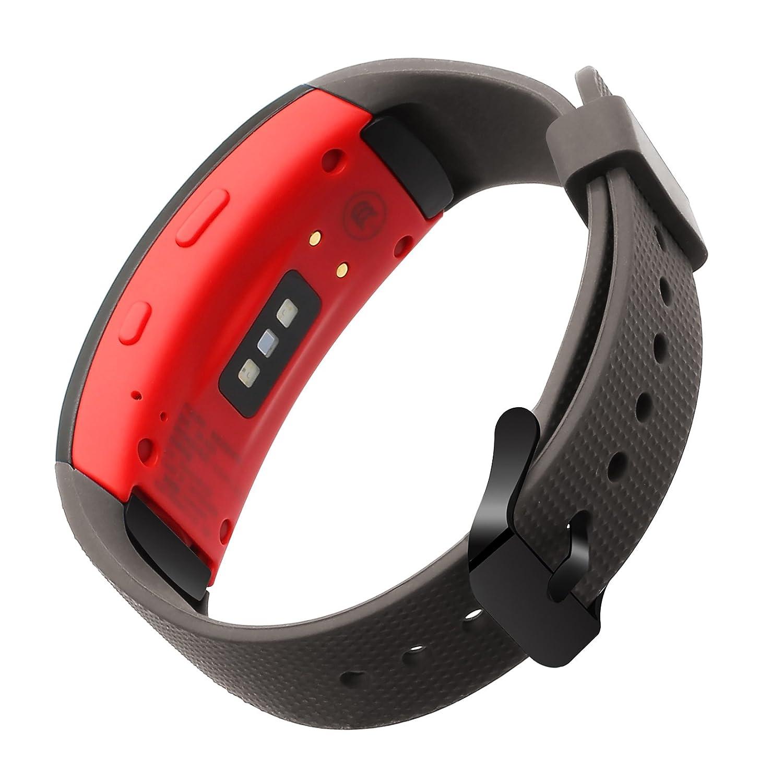 TRUMiRR Gear Fit 2 Correa de Reloj, Pulsera de Silicona con Correa de Silicona para muñeca Samsung Gear Fit 2 SM-R360 / Fit 2 Pro SM-R365 Reloj Inteligente: ...