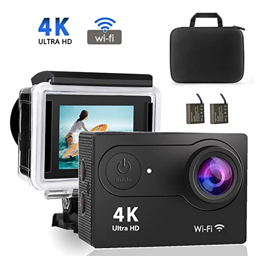 4 opinioni per 4K WiFi videocamera ,Volador Ultra HD 12MP DV, sportivo impermeabile da 98