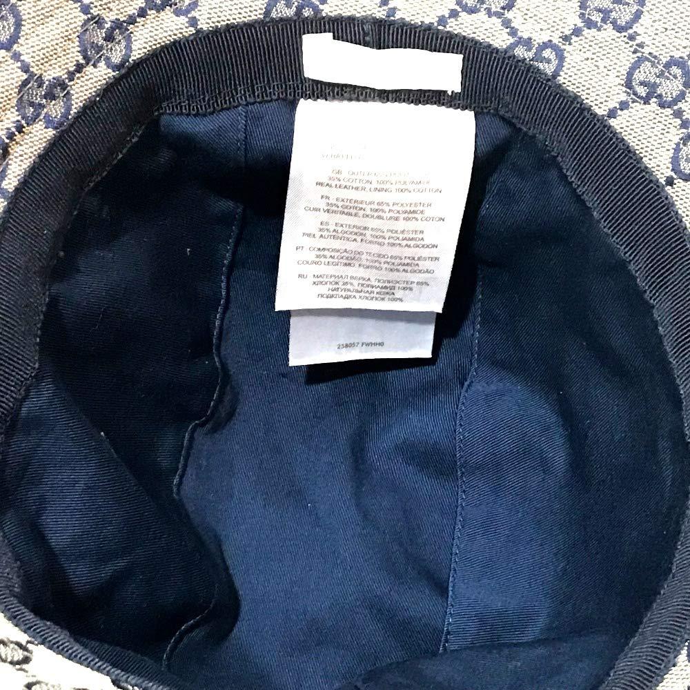 ab66e37be1a4 Amazon | (グッチ)GUCCI 258057 シェリーライン タグ有 ハット帽 帽子 GGキャンバス レディース 中古 | GUCCI(グッチ)