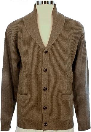 3d022ede4 Shephe 4 Ply Men s Cashmere Shawl Collar Cardigan Sweater at Amazon ...