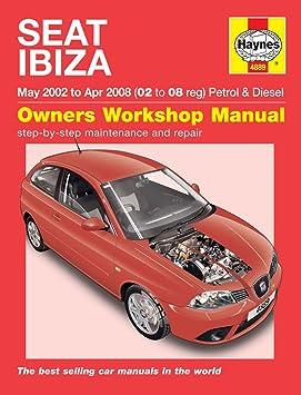 Haynes Manual de calidad de garaje de reparación de automóviles/libro para Seat Ibiza de