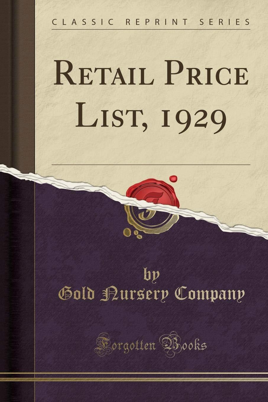 Retail Price List, 1929 (Classic Reprint) PDF