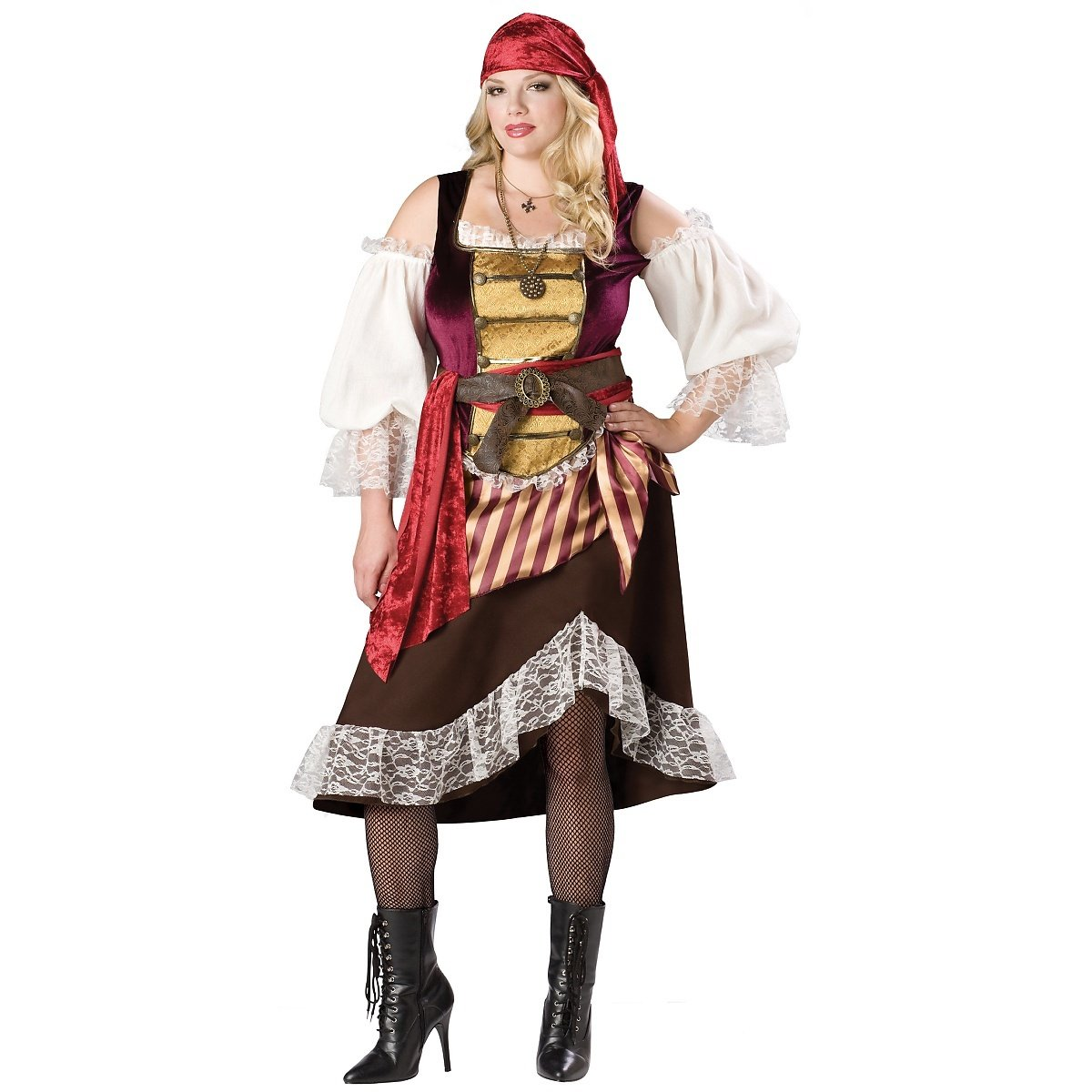 Deckhand Darlin Adult Costume - Plus Size 3X by InCharacter (Image #1)