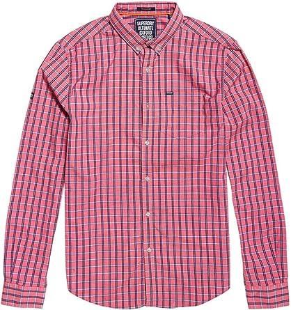 Superdry M40001MR Camisa Hombre Rosa L: Amazon.es: Ropa y accesorios