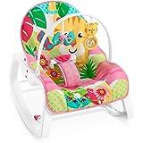 Fisher-Price - Hamaca Crece Conmigo Rock and Roar, Silla para Bebé (Mattel GNV70)