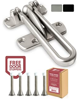 Defender Security Heavy Ultra-Thick Door Bolts with Anti-Theft Chain,Hardware Duty Lach Lock for Inside Door Secondary Security Door Chain Guard Lock for Home Security,Zin Alloy Construction